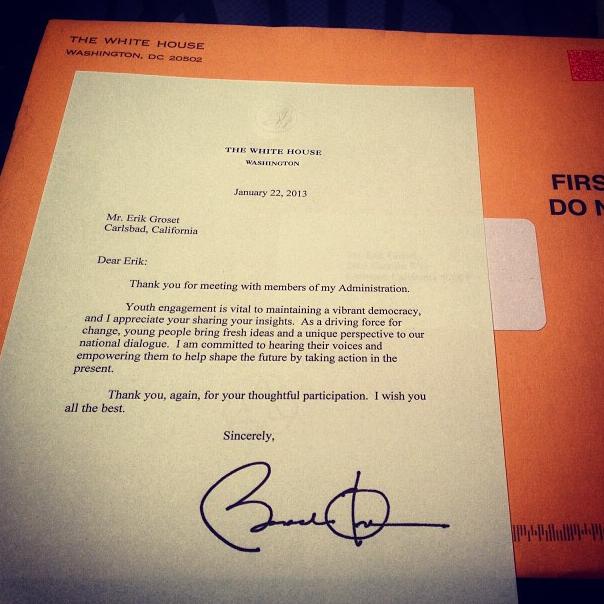 President Obama Letter
